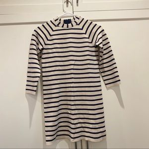 NWT Crewcuts Navy and Cream Striped Dress